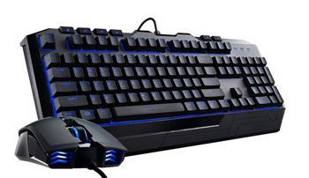 CoolerMaster Devastator II, herní set klávesnice a myši, USB, modré podsvícení, US layout, černá - SGB-3030-KKMF1-US