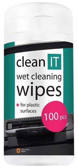 CLEAN IT čistící ubrousky mokré na plasty 100ks - CL-29