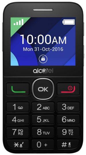 Mobilní telefon ALCATEL 2008G Black/Metal Silver - 2008G-3BALCZ1