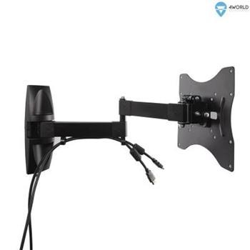 4World Otočný a sklopný držák pro LCD 15''-43'', rameno, nosnost max.25kg BLK - 07467-BLK