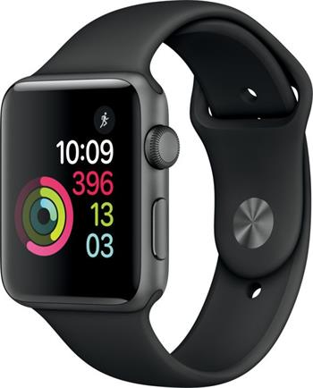 Apple Watch 2 42mm Space Grey Aluminium Case with Black Sport Band - MP062CN/A
