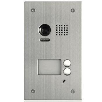 XtendLan Dveřní stanice pro D2, 2x zvonek, CCD 105st, nerez+plexi, 2-drát, IP 54, zapušt. montáž, 1 zámek - DPC-D249-2