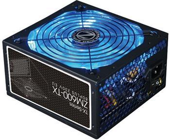 ZALMAN zdroj 600W eff. 86% 80Plus, ZM600-TX, ATX12V, PFC, 140mm blue led větrák - ZM600-TX