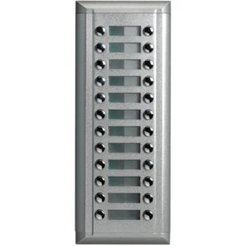 XtendLan Rozšiřující panel o 24x zvonek, hliník, tlačítka dvouřadově, IP45 - DPC-D211E-24D