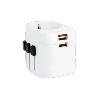 SKROSS cestovní adaptér SKROSS PRO Light USb, 6.3A max., vč. USB nabíjení, uzemněný, UK+USA+Austrálie/Čína - PA46