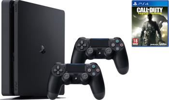 Sony PlayStation 4 Slim, 1TB, černá + 2x DualShock 4 v2 + Call of Duty: Infinite Warfare - PS719856856