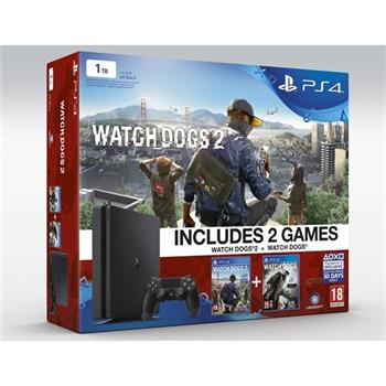 Sony Playstation 4 1TB Slim + Watchdogs a Watchdogs 2 - PS719890454
