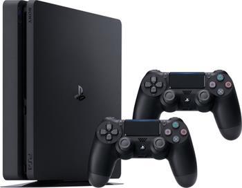 Sony PlayStation 4 Slim, 1TB, černá + 2x DualShock 4 v2 - PS719893653