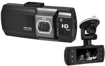 CEL-TEC E07 - palubní kamera do auta 1080p, microSD / SDHC, WDR, černá - 1311-003