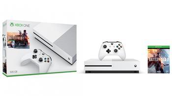 Microsoft XBOX ONE S 500 GB + 1 x hra (Battlefield 1) + 1 měsíc EA Access - ZQ9-00038