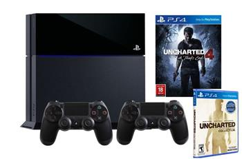 SONY PlayStation 4 1TB + Uncharted 4:Thiefs End + Uncharted:Nathan Drake Collection + DulaShock4 - PS719802655UNC