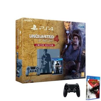 Sony Playstation 4 - 1TB Uncharted 4 Limited Edition + God Of War + DualShock4 - PS719804451GOW