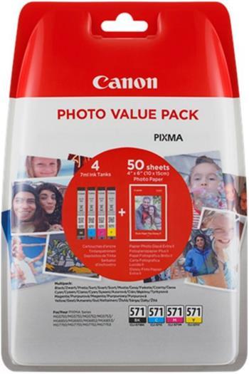 Canon inkoustová náplň CLI-571 C/M/Y/Bk XL PHOTO VALUE multipack - 0332C005