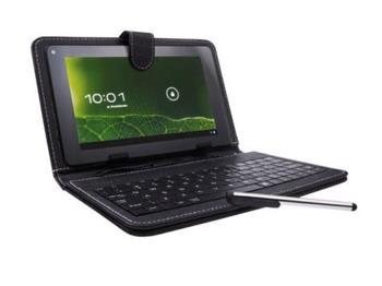 Natec SCALAR pouzdro s klávesnicí pro tablet 7'', micro USB, eko kůže, stylus - NEK-0535