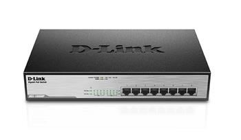 D-Link DGS-1008MP 8x 1000 Desktop Switch,8PoE port - DGS-1008MP