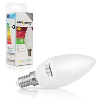 Whitenergy LED žárovka SMD2835 C37 E14 3W studená bílá - 10208