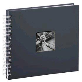Hama album klasické spirálové FINE ART 28x24 cm, 50 stran, šedé, bílé listy - 2112