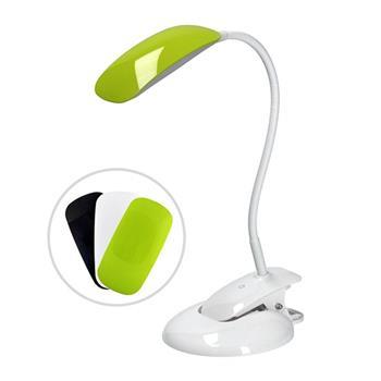 Solight LED stmívatelná lampička 2v1, podstavec i klip, 5W 4000K, 3 barevné kryty - WO42