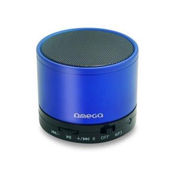 Bluetooth reproduktor OMEGA OG47B, 3W, FM, micro SD, hliníkový - OG47BL