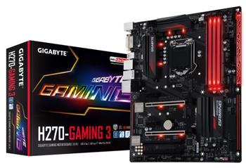 GB GA-H270-Gaming 3, Intel H270, 1151, ATX - GA-H270-Gaming 3