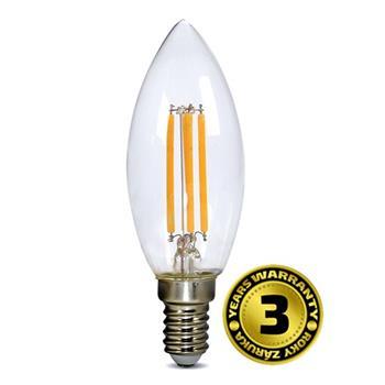 Solight LED žárovka retro, svíčka 4W, E14, 3000K, 360°, 440lm - WZ401A