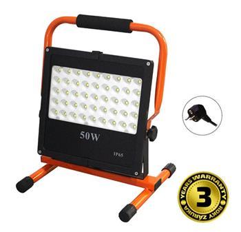 Solight LED venkovní reflektor se stojanem, 50W, 4250lm, kabel se zástrčkou, AC 230V - WM-50W-FES