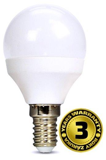 Solight LED žárovka, miniglobe, 4W, E14, 3000K, 310lm, bílé provedení - WZ415
