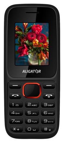 Mobilní telefon ALIGATOR D200 (Dual sim), černo-červený - AD200BR