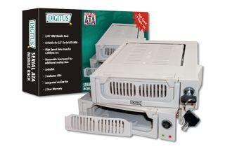 Digitus výměnný rámeček 5,25'' pro SATA disky 3,5'', plastový, klíček, šedý - DA-50214-A
