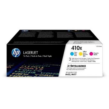 HP 410X 3-pack High Yield C/M/Y Original LJ Toner Cartridges, CF252XM - CF252XM