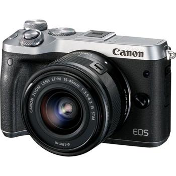 Canon EOS M6 Silver + EF-M 15-45 IS STM - 1725C012