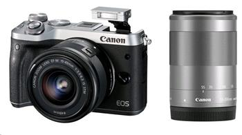 Canon EOS M6 Silver + EF-M 15-45 IS STM + EF-M 55-200 - 1725C032