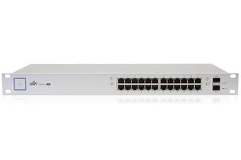 UBNT UniFi 24-port Gigabit Ethernet Switch with SFP, no PoE - US-24