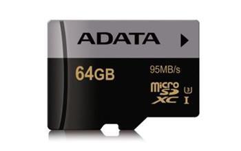 ADATA Premier Pro micro SDXC karta 64GB UHS-I U3 Class 10 + adapter - AUSDX64GUI3CL10-RA1