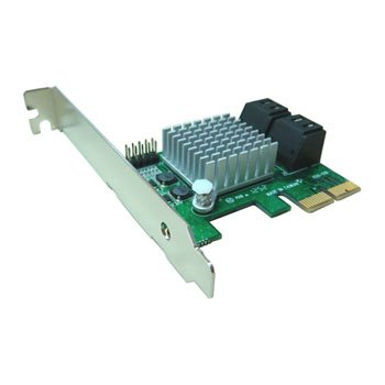 Kouwell PE-120 AHCI SATA III – 6Gbps Internal 4Ports LowProfile PCIe 2.0 Host Adapter - IOKW7715