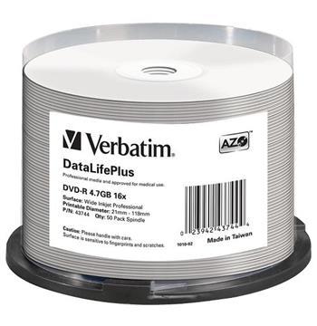 DVD-R Verbatim 4,7 GB 16x Profesional Printable 50-cake NON-ID - 43744