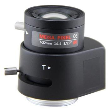 "XtendLan Objektiv Vari-focal DC Drive AutoIris, IR, 7-22mm, CS-mount, 1/2.7"", 41-14 stupňů, do 3Mpix - OVARDC-722IR-3M"