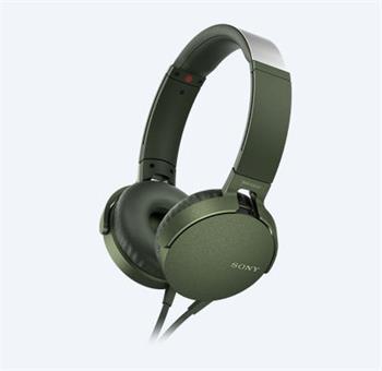 Sony MDRX-B550AP sluchátka, zelené - MDRXB550APG.CE7