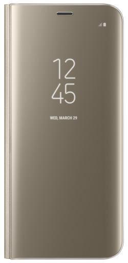 Samsung EF-ZG950CF Flip Clear View Galaxy S8, Gold - EF-ZG950CFEGWW