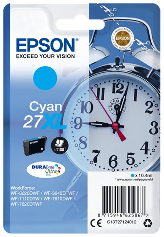 EPSON cartridge Cyan 27XL DURABrite Ultra Ink T2712 - C13T27124012