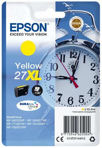 EPSON cartridge Yellow 27XL DURABrite Ultra Ink T2714 - C13T27144012