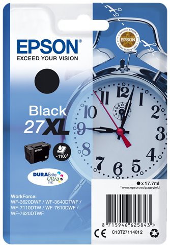 EPSON cartridge Black 27XL DURABrite Ultra Ink T2711 - C13T27114012
