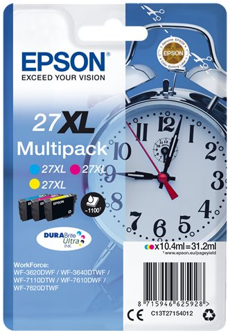 EPSON cartridge Multipack 3-colour 27XL DURABrite Ultra Ink T2715 - C13T27154012