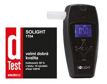 Solight alkohol tester profi, 0,0 - 3,0‰ BAC, citlivost 0,1‰, barevný displej, automatické čištění - 1T04