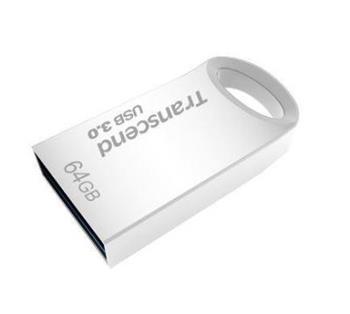 Transcend Jetflash 710s flashdisk 64GB USB 3.0 kovový, odolný, stříbrný - TS64GJF710S