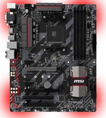 MSI B350 TOMAHAWK, AM4, 4xDDR4, 4xUSB3.1 - B350 TOMAHAWK
