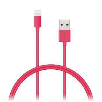 CONNECT IT Wirez COLORZ kabel Apple Lightning - USB, 1m, růžový - CI-566