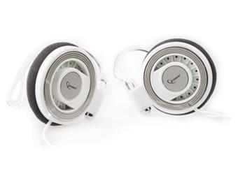 Gembird MP3 stereo sluchátka, 3.5mm Jack, bílé, CLIP ON, 1.8m - MP3A-HS3