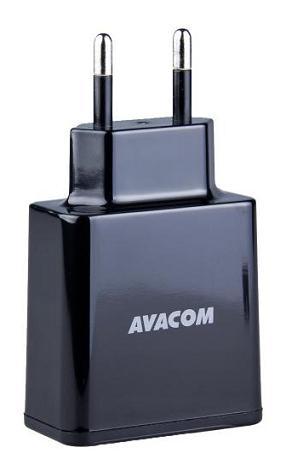AVACOM síťová nabíječka 3,4A se dvěma výstupy, černá barva - NASN-2XKK-34A