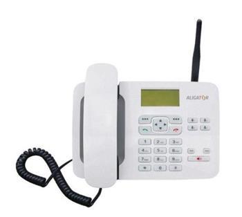 ALIGATOR T100 bílý, stolní GSM telefon - AT100W